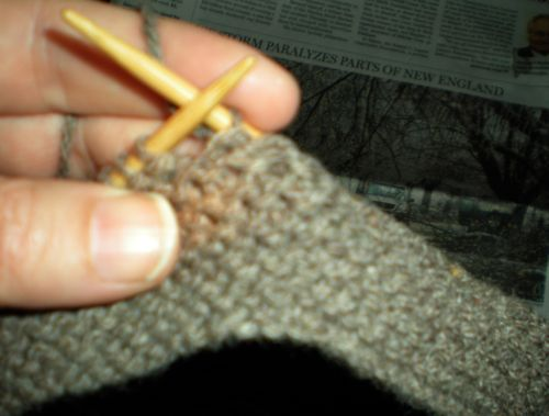 What to do but knit?