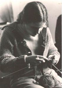 Norah Knitting in 1977