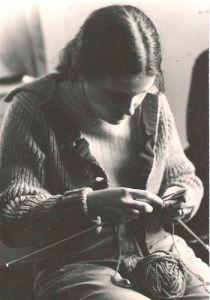 Norah Knitting in 1977