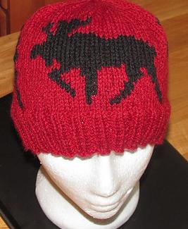 Moose Hat by yarn-yakkerknit in Vintage DK