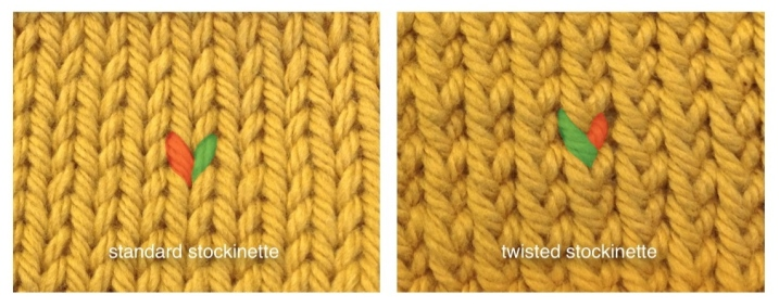 Knitted Twisted To Right