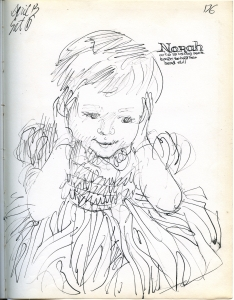 A sketch by Norah's dad.