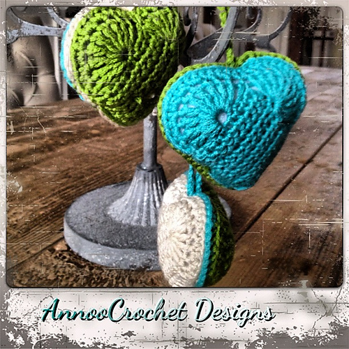 Heart Ornament by Annoo Crochet