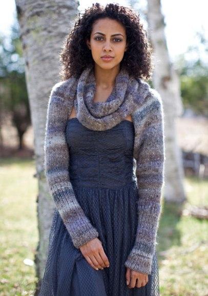 Long Sleeved Shrug Knitting Pattern : Norah s Knits: Shrug it off   Shrugs to Knit
