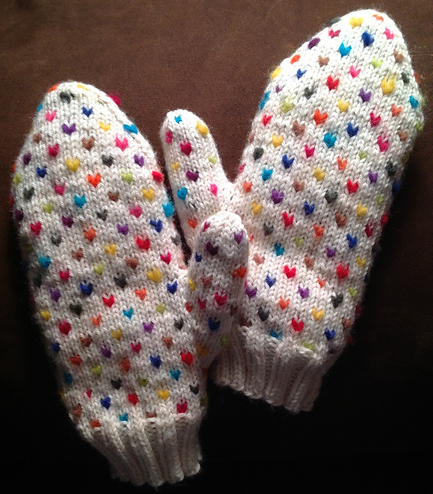 Knitting Pattern For Thrum Mittens : Knitter s Spotlight: Colorful Mittens