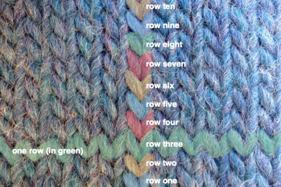 Stockinette (right side)