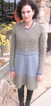 Centre-Ville Dress & Cardigan by Nancy Eiseman