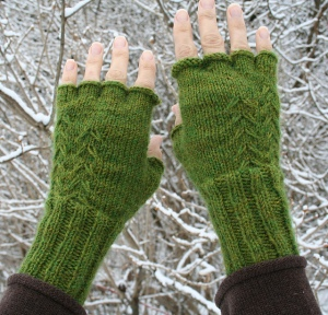 Fern Fingerless Gloves by Amanda Lilley