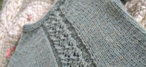 diamond panel pullover