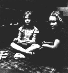 Melissa Wheelock (right) on set