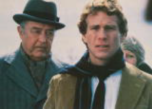 """Ray Milland & Ryan O'Neal film """"Oliver's Story"""" in Uxbridge, MA. Photo Courtesy of Paramount Pictures"""