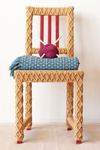 Yarn Bombed Upcycled Chair by Lorna Watt