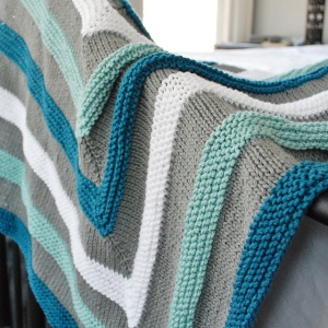 Playful Stripes Blanket by Meridith Shepherd