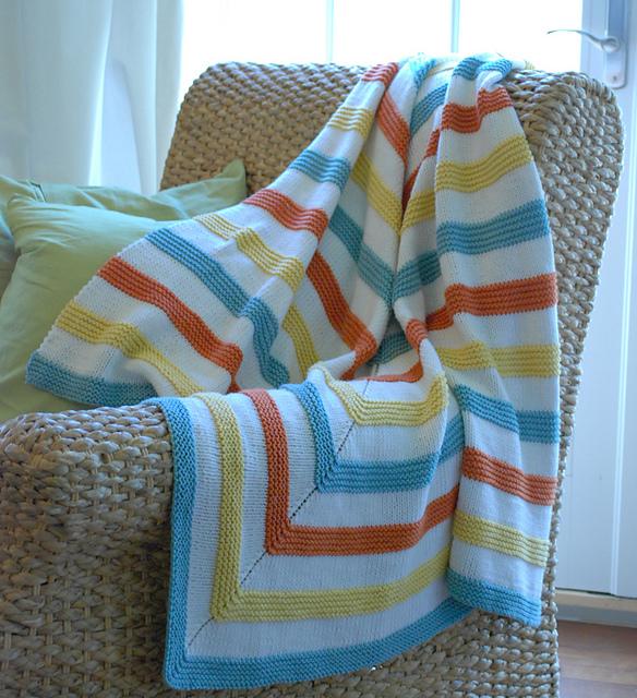 Knitting Blanket Strips : Knitter s spotlight playful stripes blanket by meridith