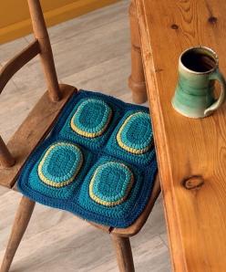 Overstuffed Seat Cushion by Ellen Gormley