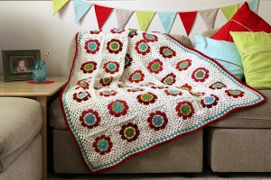 Mod Floral Blanket by Lisa Clarke