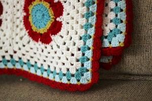 Mod Floral Blanket by Lisa Clarke