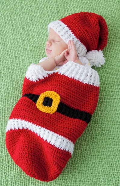 Santa Cocoon & Hat by Frances Hughes
