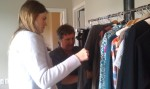 Emily helps Norah pick outfits.
