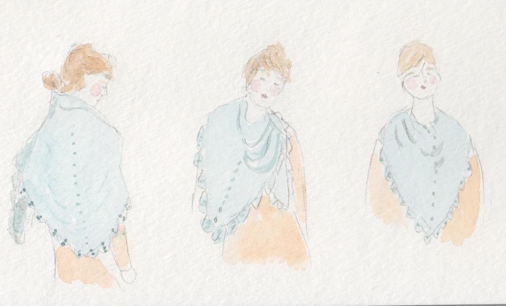 Emily Explains Ways To Wear A Triangle Shawl Knitting