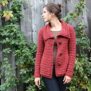 Willamette knit in Blackstone Tweed
