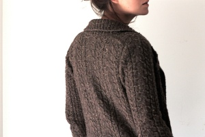 Stonecutters Cardigan knit in Blackstone Tweed