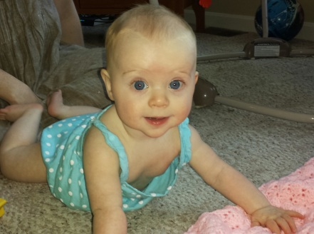 The cutest distraction of all, my niece, Cecelia.