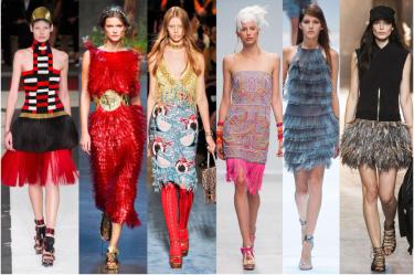 L-R: Alexander McQueen, Dolce-Gabbana, Miu Miu, Manish Arora, Guy Laroche, Moncler Gamme Rouge