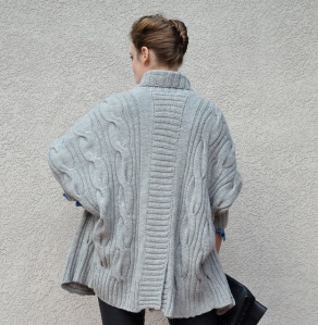 Grey Dolman Cardigan by Irina Anikeeva
