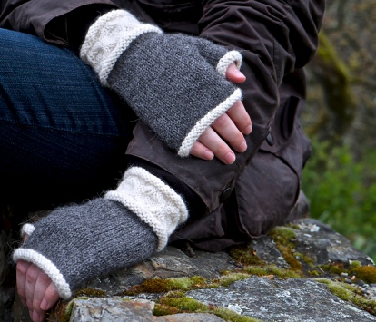 Avoca Fingerless Gloves by Patricia Hart