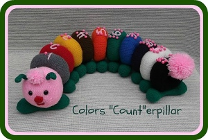 "Knit Colors ""Count""-erpillar by Lorraine Pistorio"