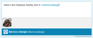 "Add ""@berrocodesign"" in your text"