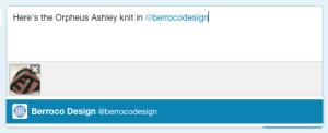 "Add ""@berrocodesign"" in your text"