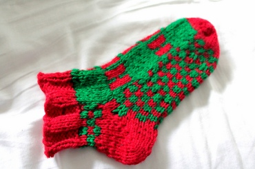 Ho Ho Ho Slipper Socks by Lesley Richards