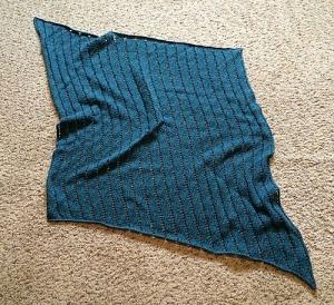 Deep Ocean Waves Baby Blanket by Mike Horwath