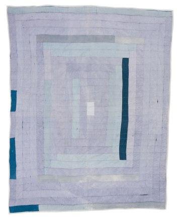 """Lorraine Pettway, born 1953. """"Medallion work-clothes quilt"""", 1974"""
