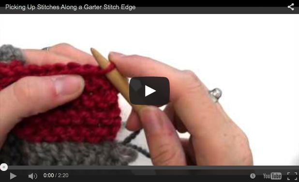 Emily Explains Picking Up Stitches Along A Garter Stitch Edge