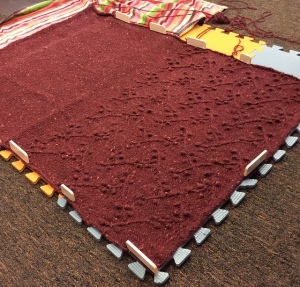 blocking my Willard before seaming