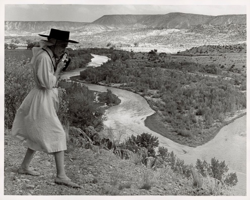 Todd Webb, Georgia O'Keefe Photographing the Chama Valley, New Mexico, 1961