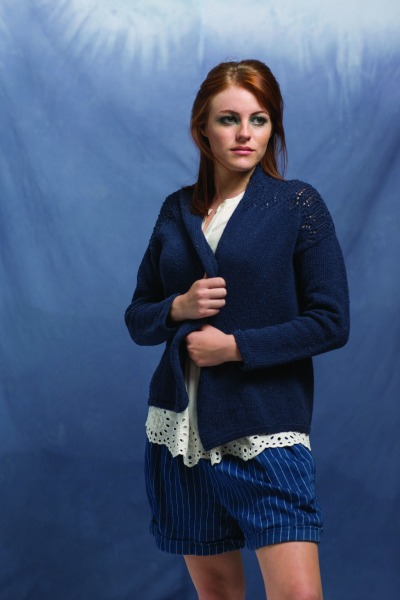 Anil Cardigan by Amy Christoffers, knit in Berroco Indigo