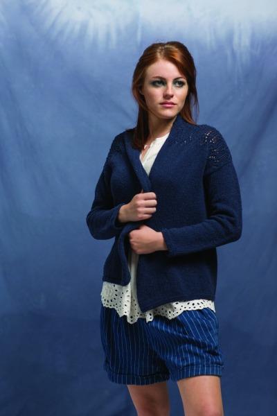Anil Cardigan by Amy Christoffers, knit in Berroco Indigo