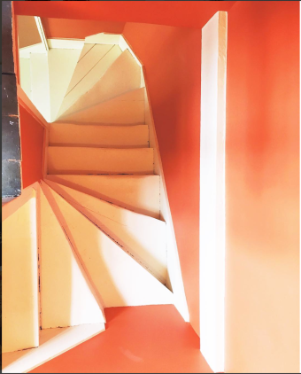 Cheerful stairs at our location