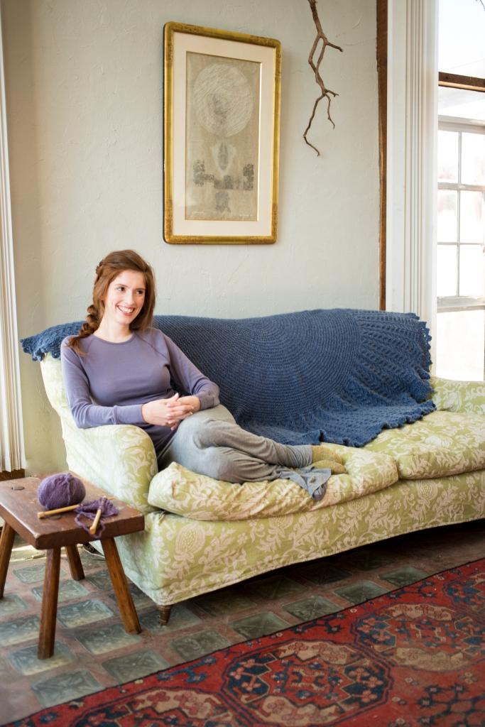 Pyxis Blanket knit in Berroco North Star