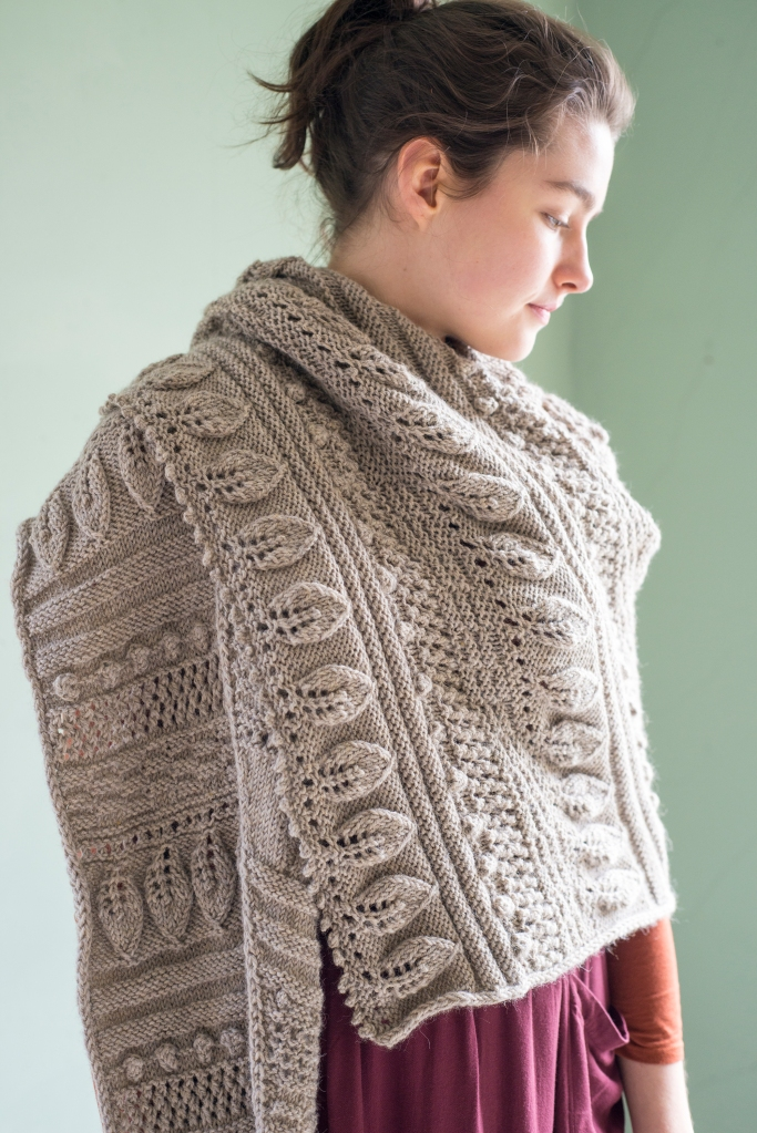 Greenwood Shawl Knitting Pattern designed by Martha Wissing in Berroco Ultra Alpaca