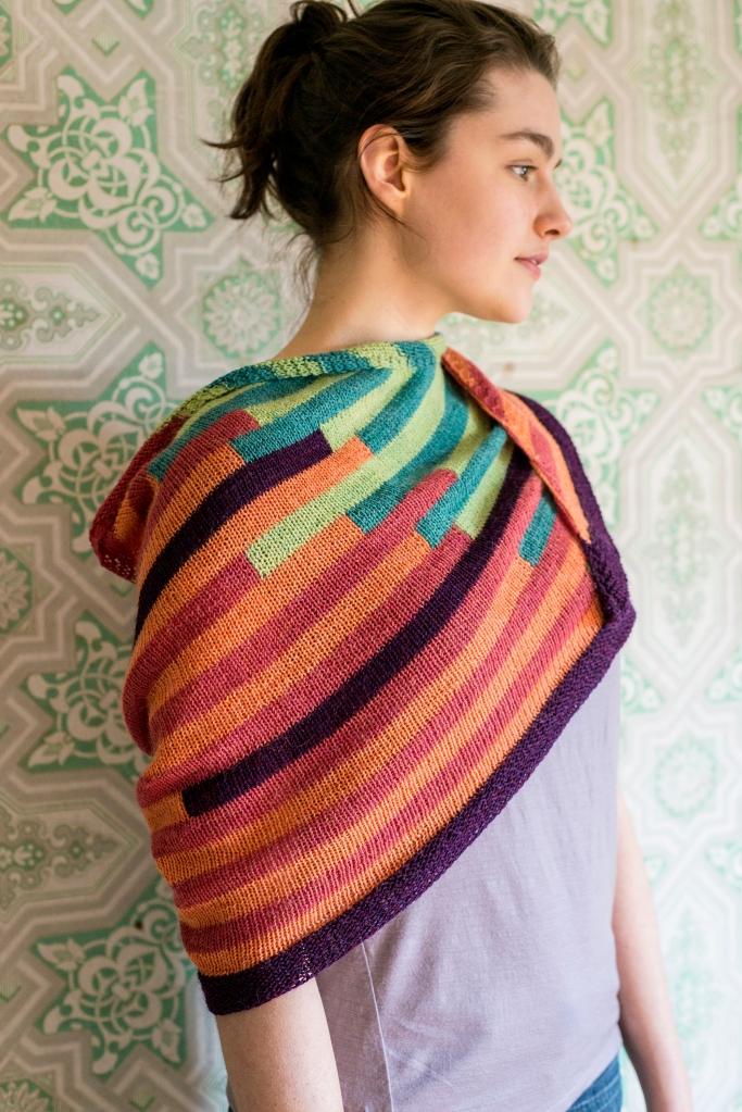 Teeter Totter Shawl knitting pattern in Berroco Ultra Alpaca Fine