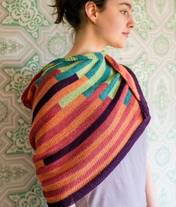 Intarsia Knitting Patterns : Simple Intarsia Knitting with the Teeter Totter Shawl