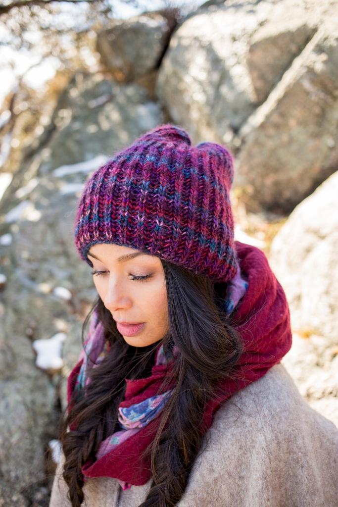 Katka hat knitting pattern in Berroco Millefiori