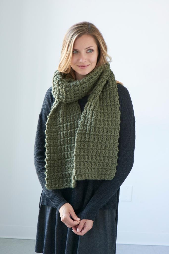 Giuoco scarf pattern in Berroco Noble