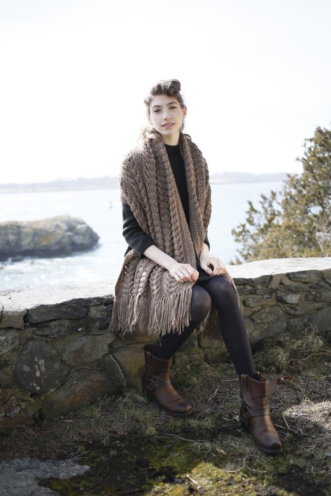Yew Scarf Knitting pattern in Berroco Tuscan Tweed
