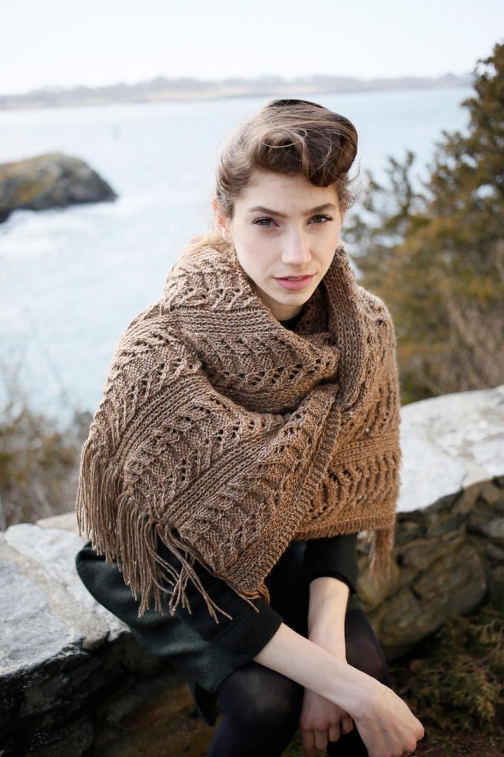 Yew stole knitting pattern in Berroco Tuscan Tweed